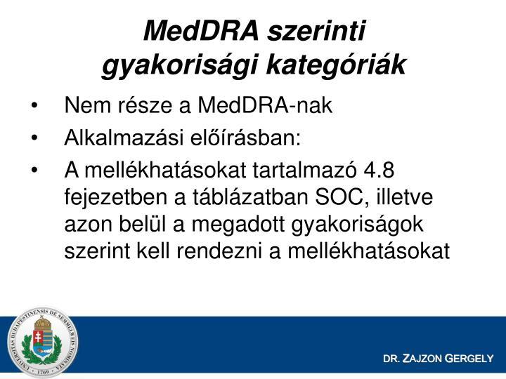 MedDRA szerinti