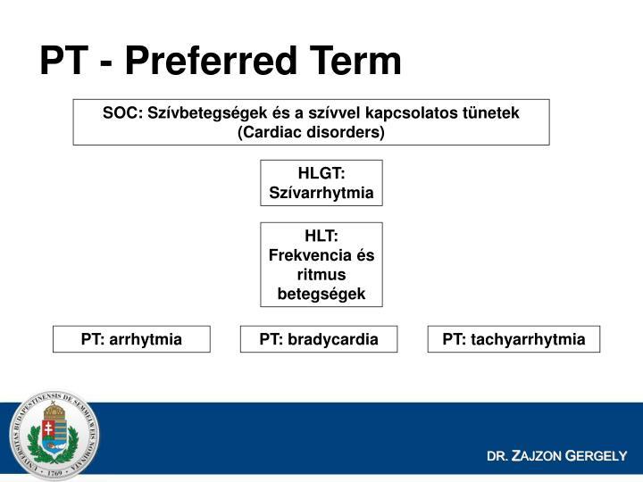 PT - Preferred Term
