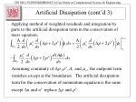 artificial dissipation cont d 3