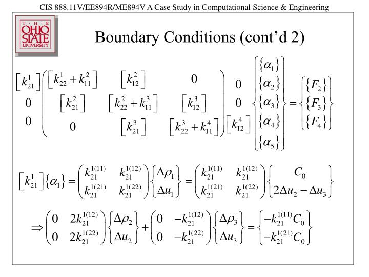Boundary Conditions (cont'd 2)