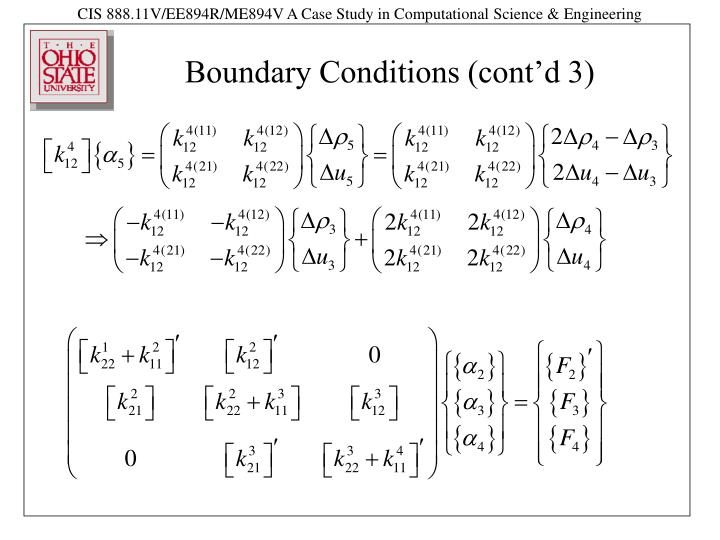 Boundary Conditions (cont'd 3)
