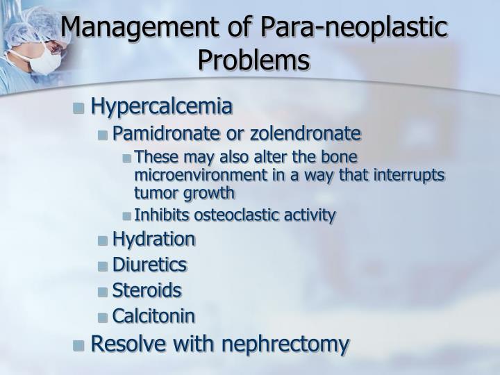 Management of Para-
