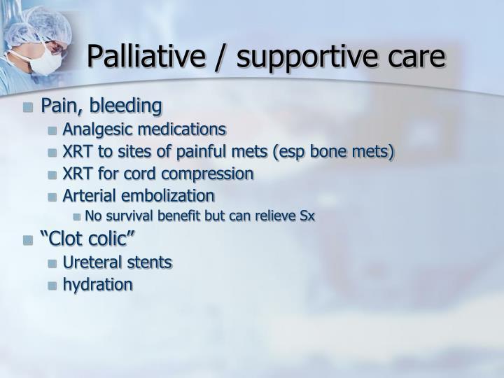 Palliative / supportive care