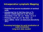 intraoperative lymphatic mapping
