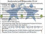 resourceful and responsible 13 14