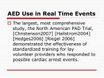 aed use in real time events