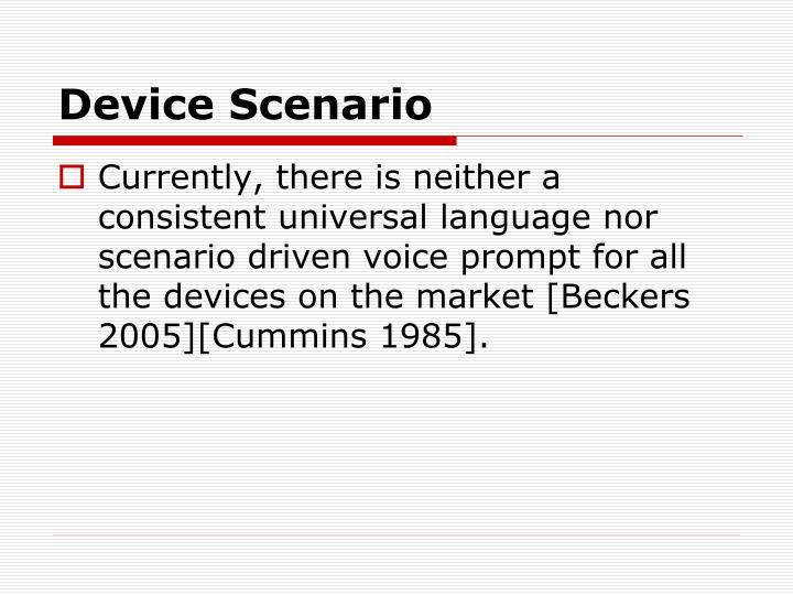 Device Scenario