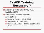 is aed training necessary