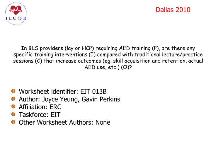 Worksheet identifier: EIT