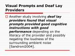 visual prompts and deaf lay providers