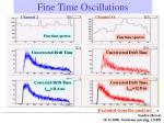 fine time oscillations