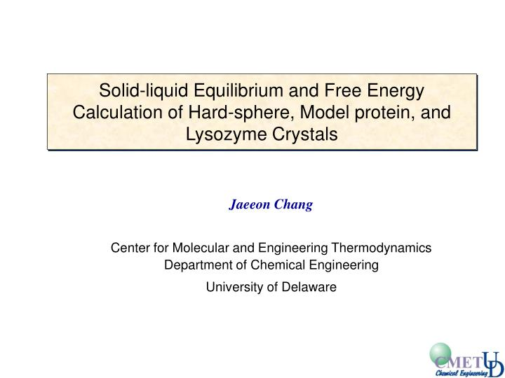 Solid-liquid Equilibrium and Free Energy