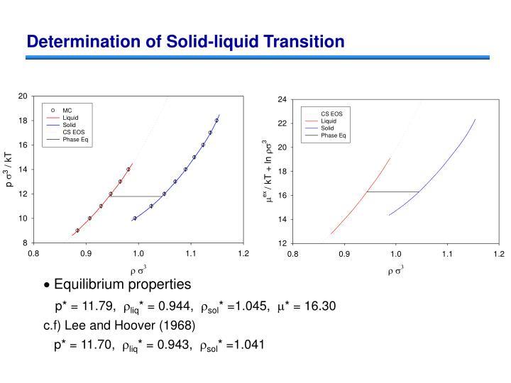 Determination of Solid-liquid Transition
