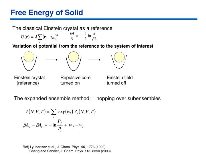 Free Energy of Solid