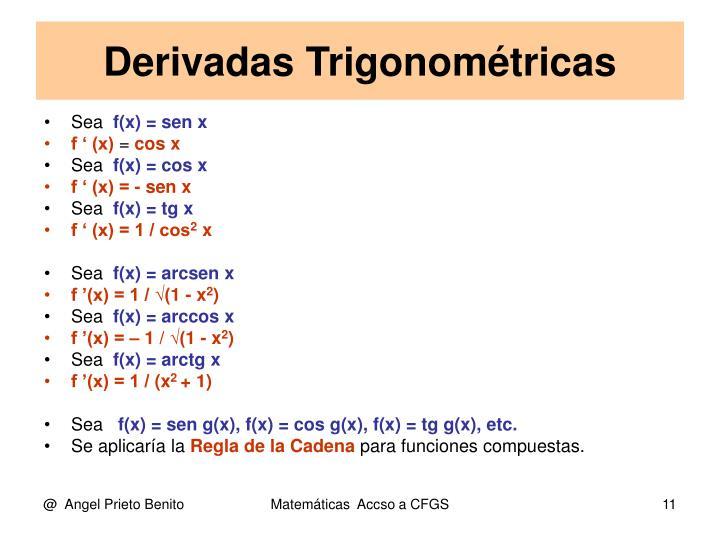 Derivadas Trigonométricas