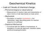 geochemical kinetics