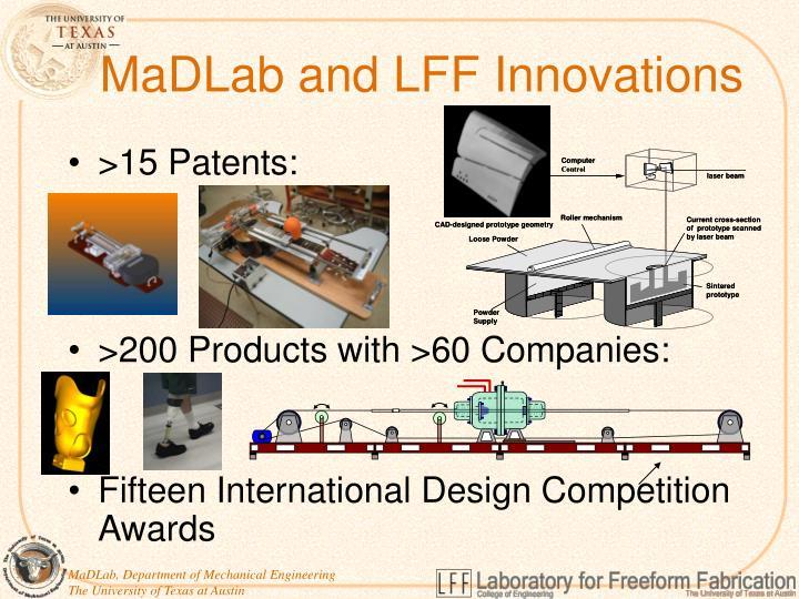 MaDLab and LFF Innovations