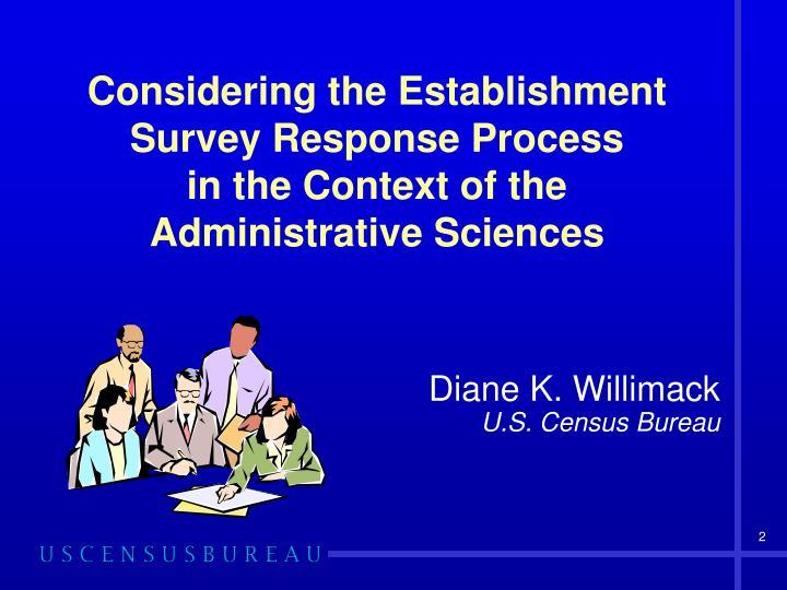 Considering the Establishment Survey Response Process