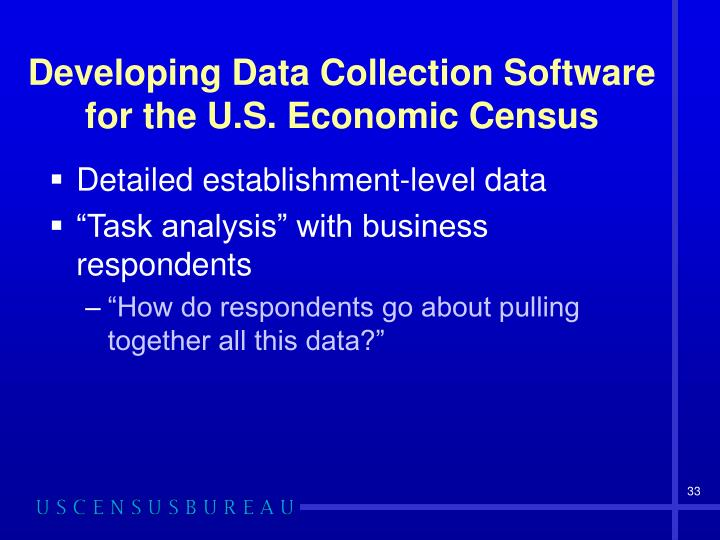 Developing Data Collection Software for the U.S. Economic Census