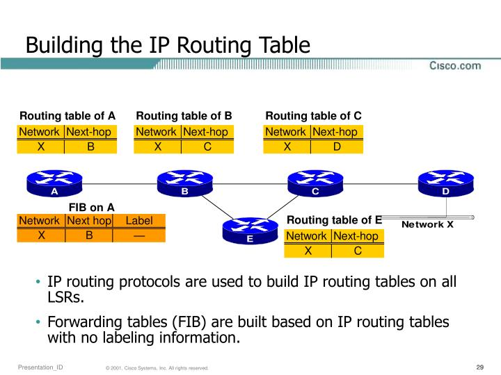 Building the IP Routing Table