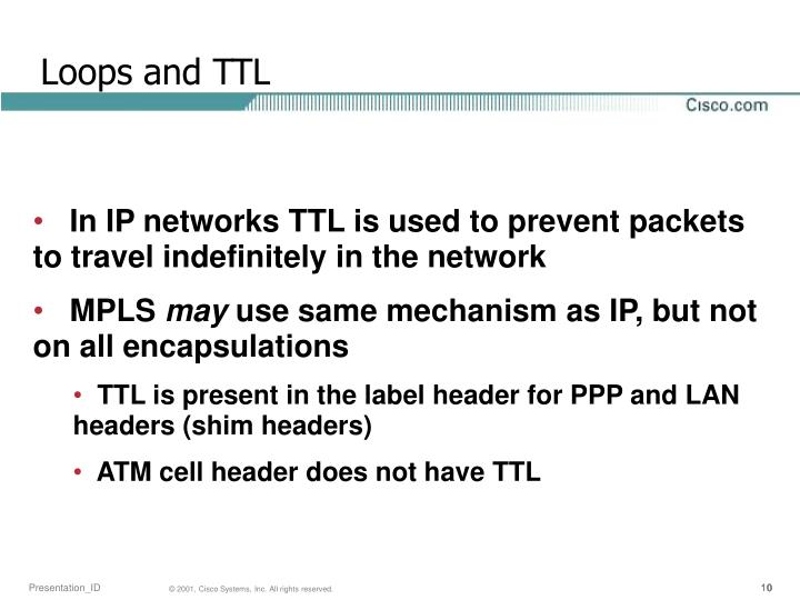 Loops and TTL