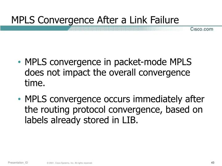 MPLS Convergence After a Link Failure