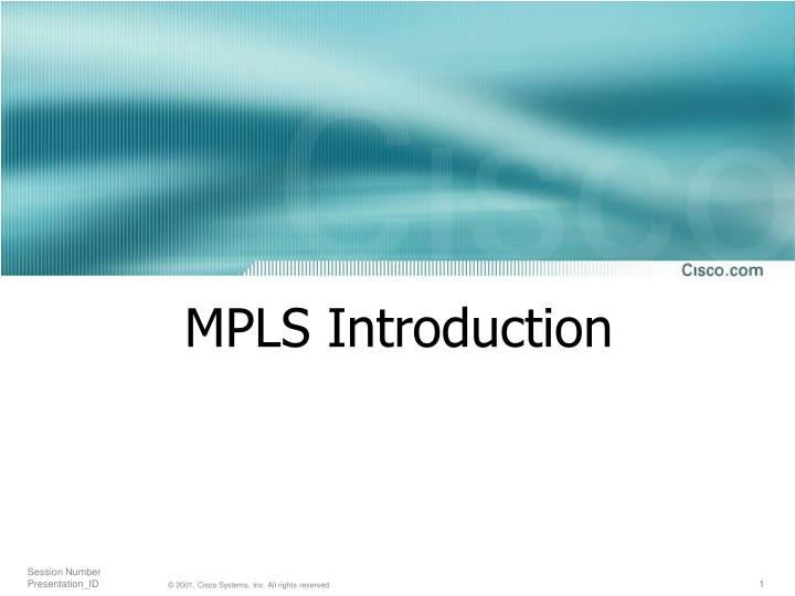 Mpls introduction