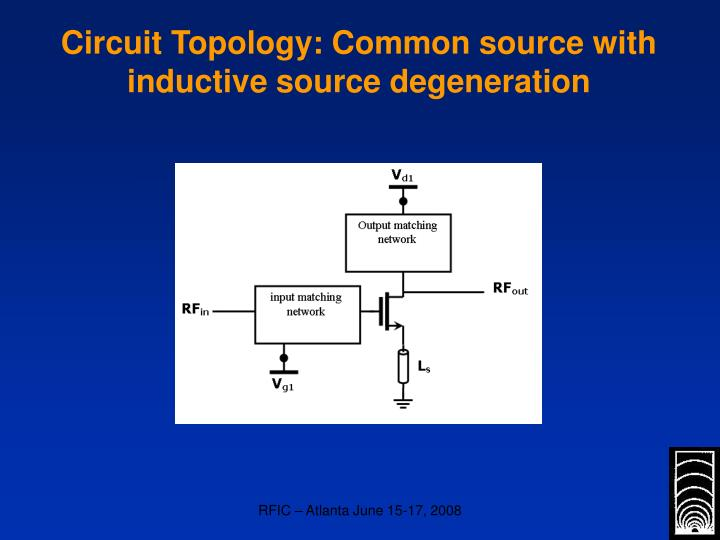 Circuit Topology: Common source with inductive source degeneration
