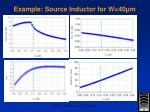 example source inductor for w 40 m