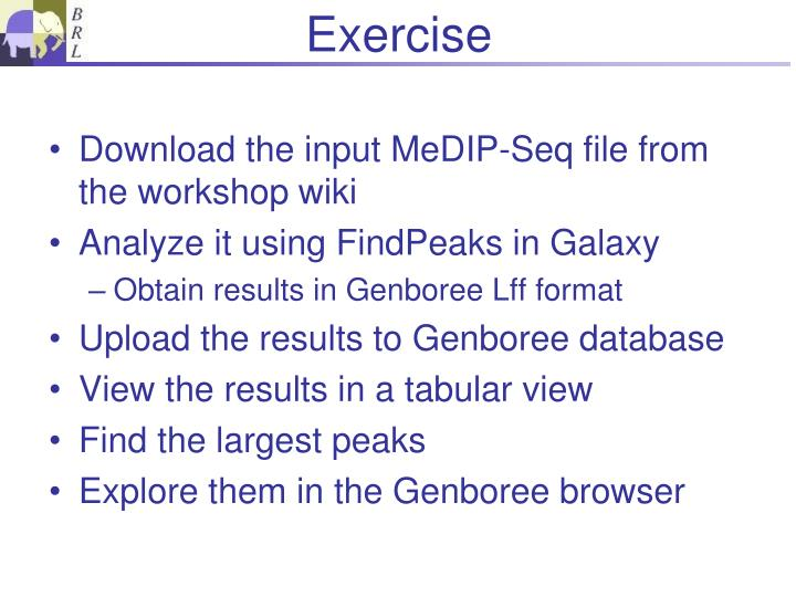 Download the input MeDIP-Seq file from the workshop wiki