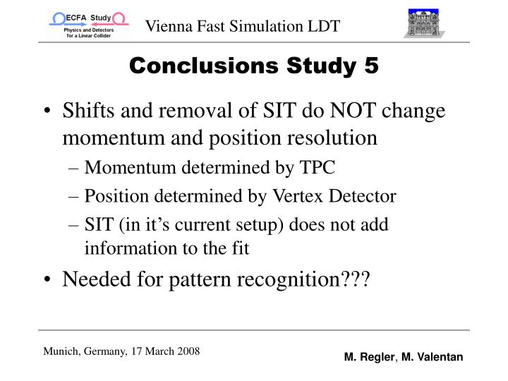 Conclusions Study 5