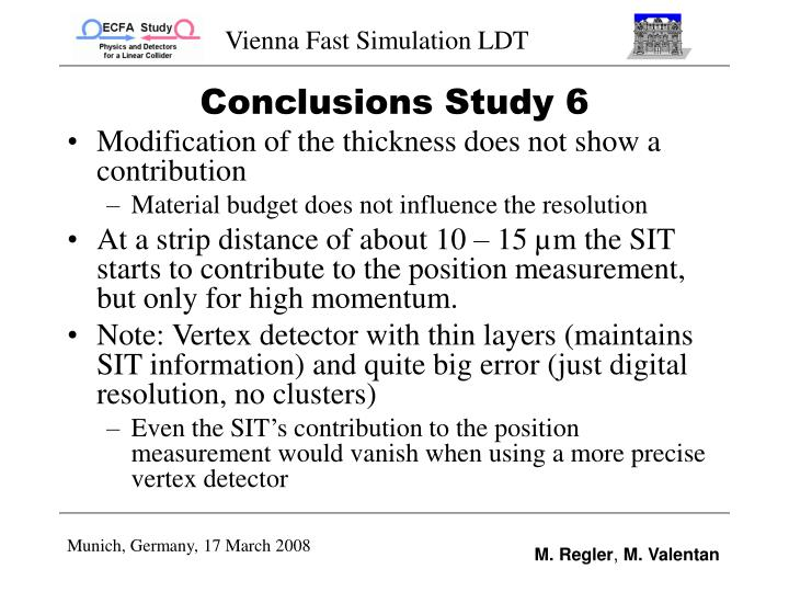 Conclusions Study 6