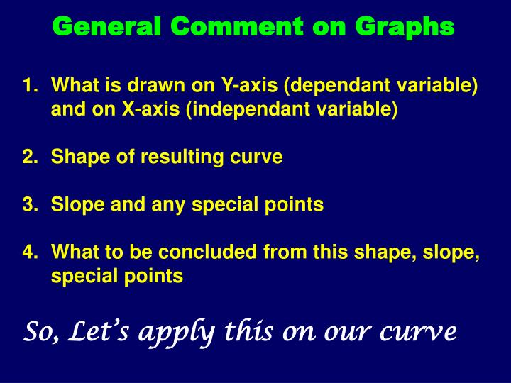 General Comment on Graphs