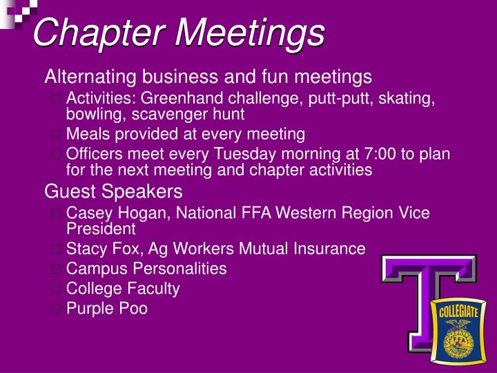 Chapter Meetings