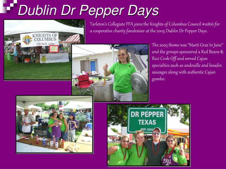 Dublin Dr Pepper Days