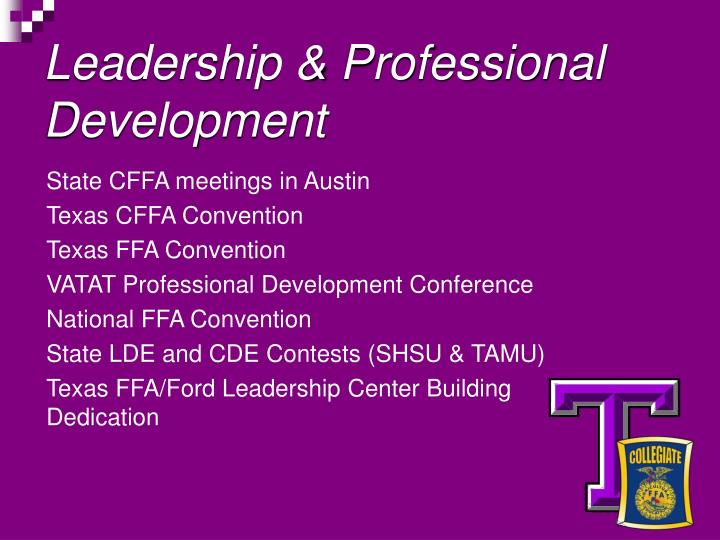 Leadership & Professional Development