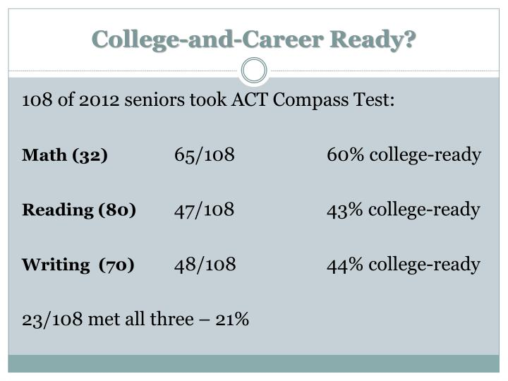 College-and-Career Ready?
