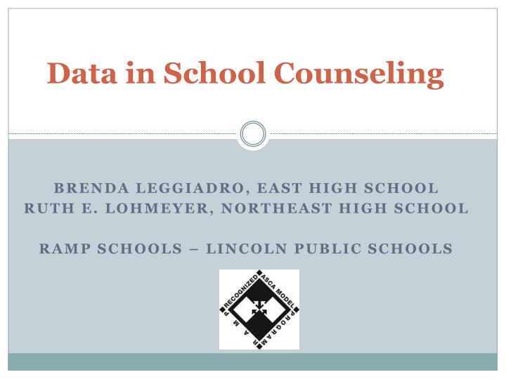 Data in School Counseling