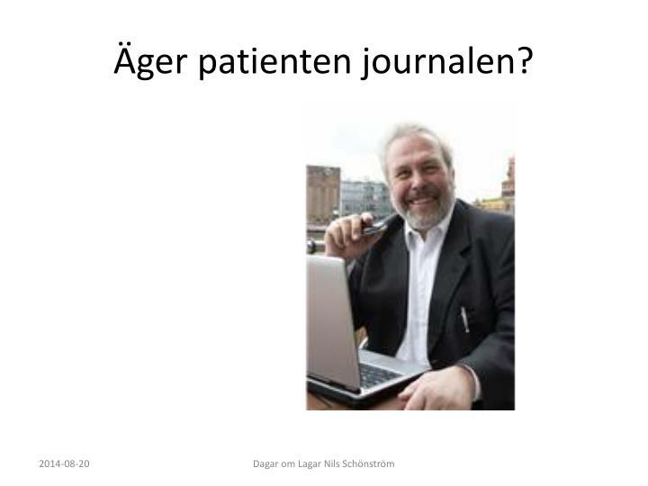 Äger patienten journalen?