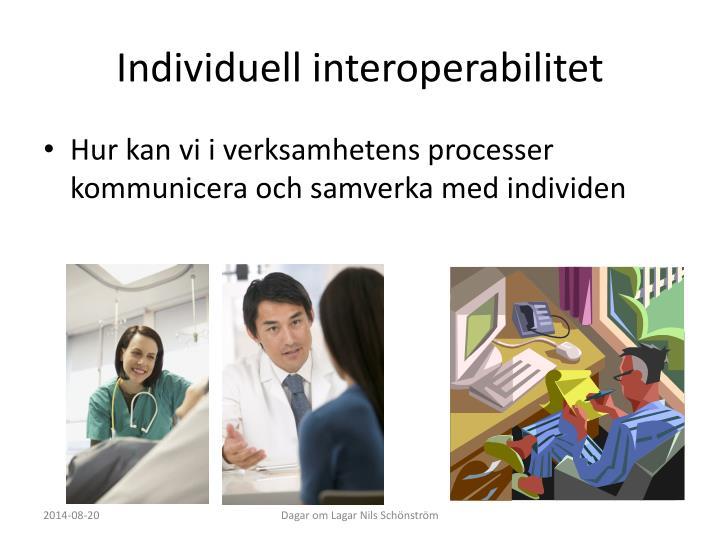 Individuell interoperabilitet