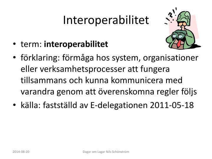 Interoperabilitet