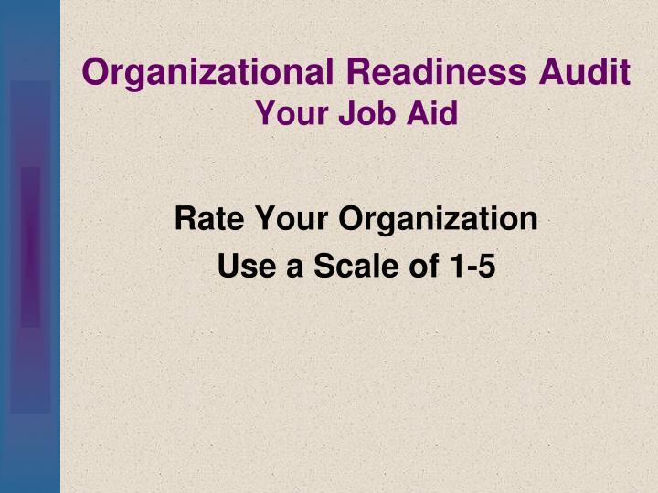 Organizational Readiness Audit