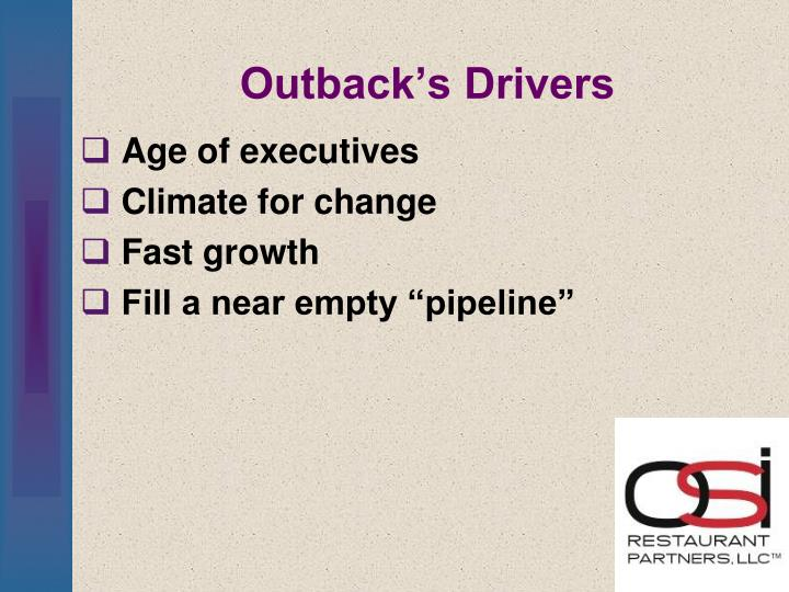 Outback's Drivers