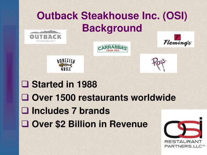 Outback Steakhouse Inc. (OSI) Background