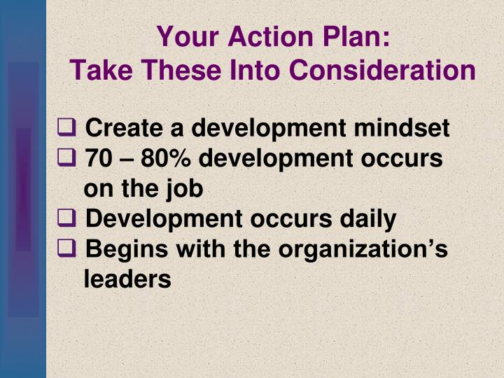 Your Action Plan:
