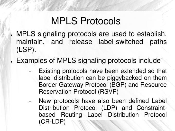MPLS Protocols