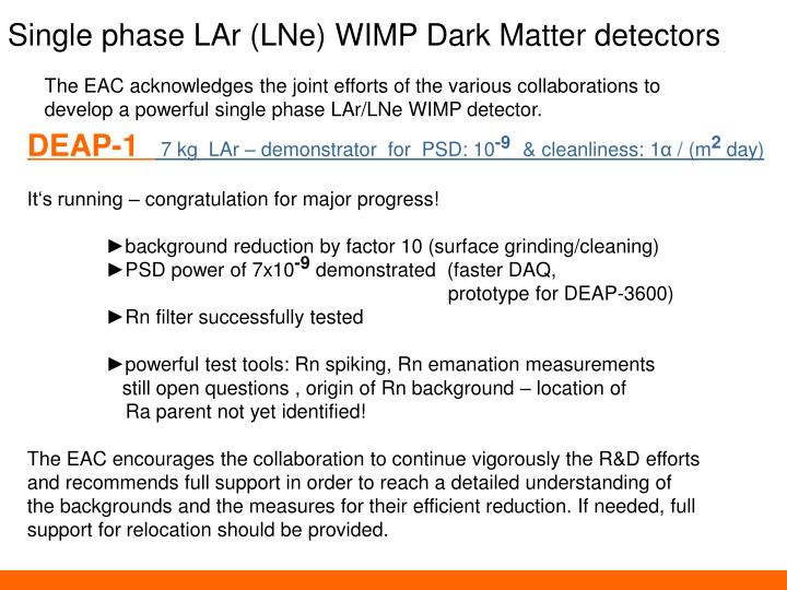 Single phase LAr (LNe) WIMP Dark Matter detectors