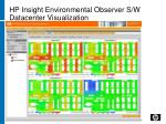 hp insight environmental observer s w datacenter visualization
