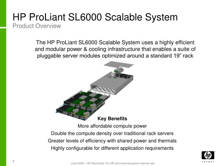 HP ProLiant SL6000 Scalable System