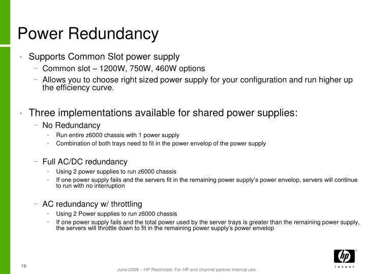 Power Redundancy